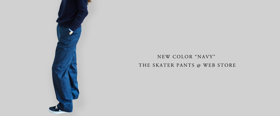 "NEW COLOR ""NAVY""@THE SKATER PANTS"